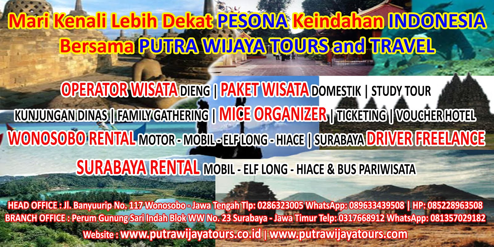 Rental Car / Van in Surabaya East Java by Putra Wijaya Rent Car