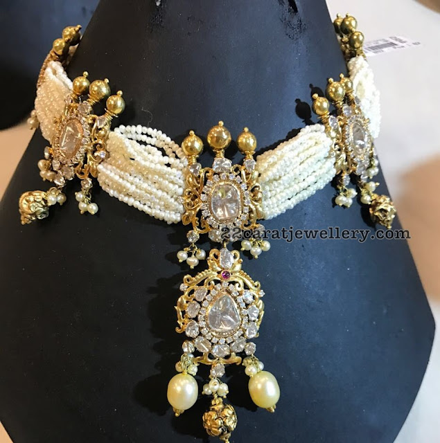 Classic Pearl Choker by Sitara Jewellery