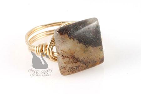 Jasper Gemstone Bead Ring (R106)