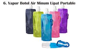 Vapur Botol Air Minum Lipat Portable merupakan souvenir pernikahan yang ramah lingkungan