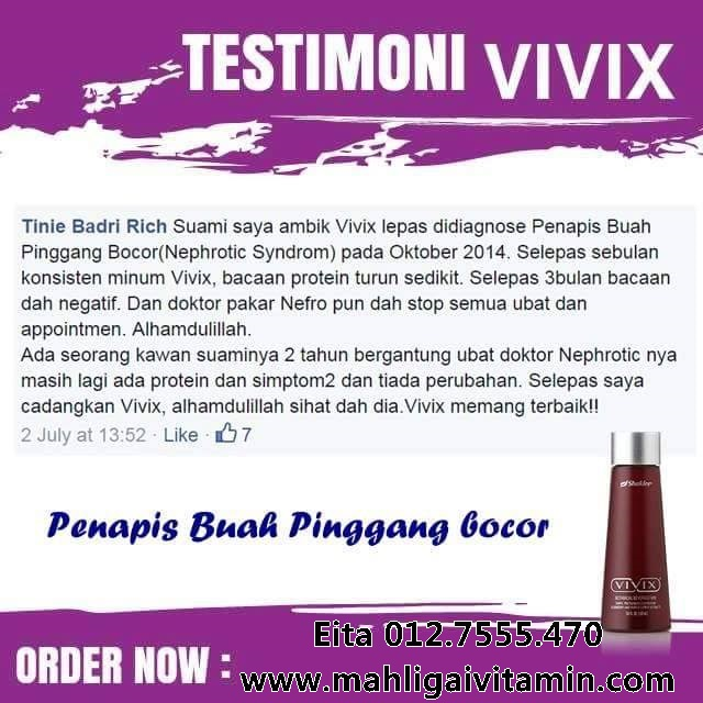 vivix untuk merawat penapis buah pinggang bocor