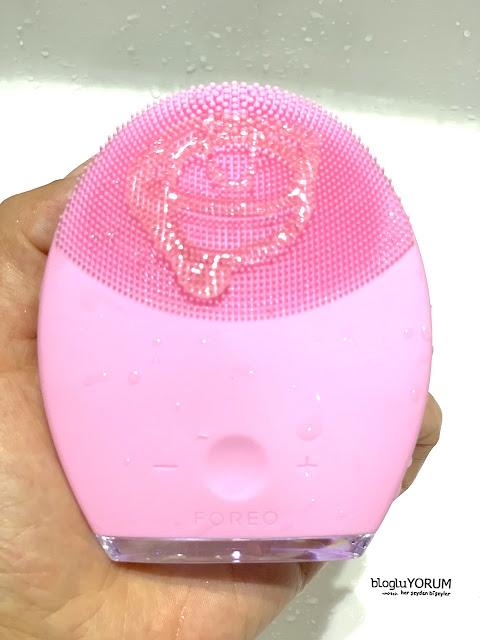 foreo luna 2 yüz temizleme cihazı  kullananlar normal ciltler için pembe 6