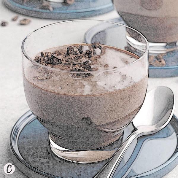 Dark Chocolate Espresso Tapioca Pudding