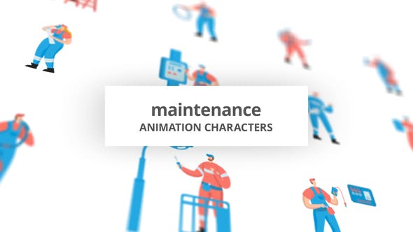 Maintenance – Character Set[Videohive][After Effects][29102375]