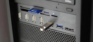 hubungkan perangkat USB ke port berbeda
