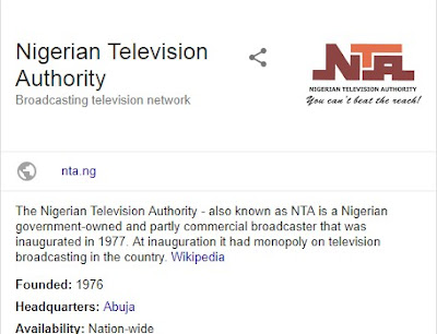 Latest Update - Nigerian Television Authority Recruitment 2018/2019 - (NTA)