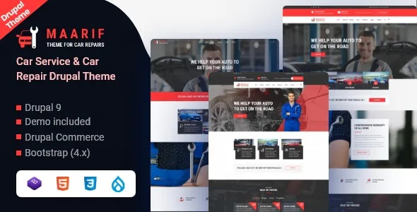 Best Car Service & Car Repair Drupal Theme