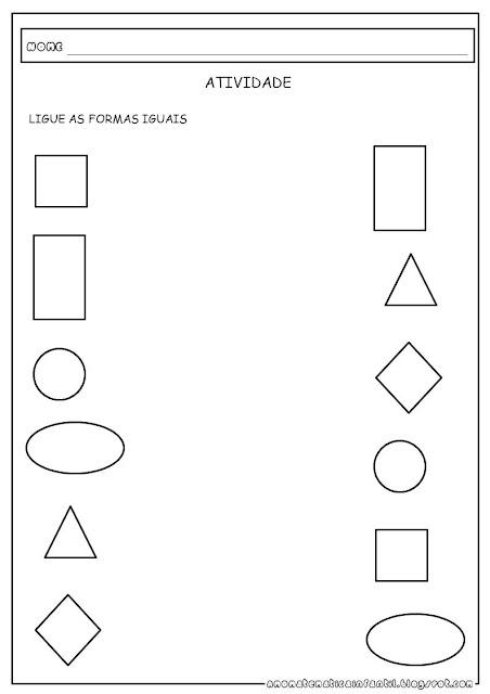 Atividade para imprimir Formas Geométricas