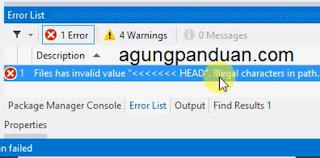 Cara Mengatasi Error Setelah Commit Di Source Tree Pada ASP Net MVC