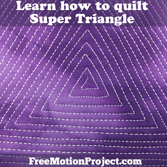 Beginner quilting design Super Triangle