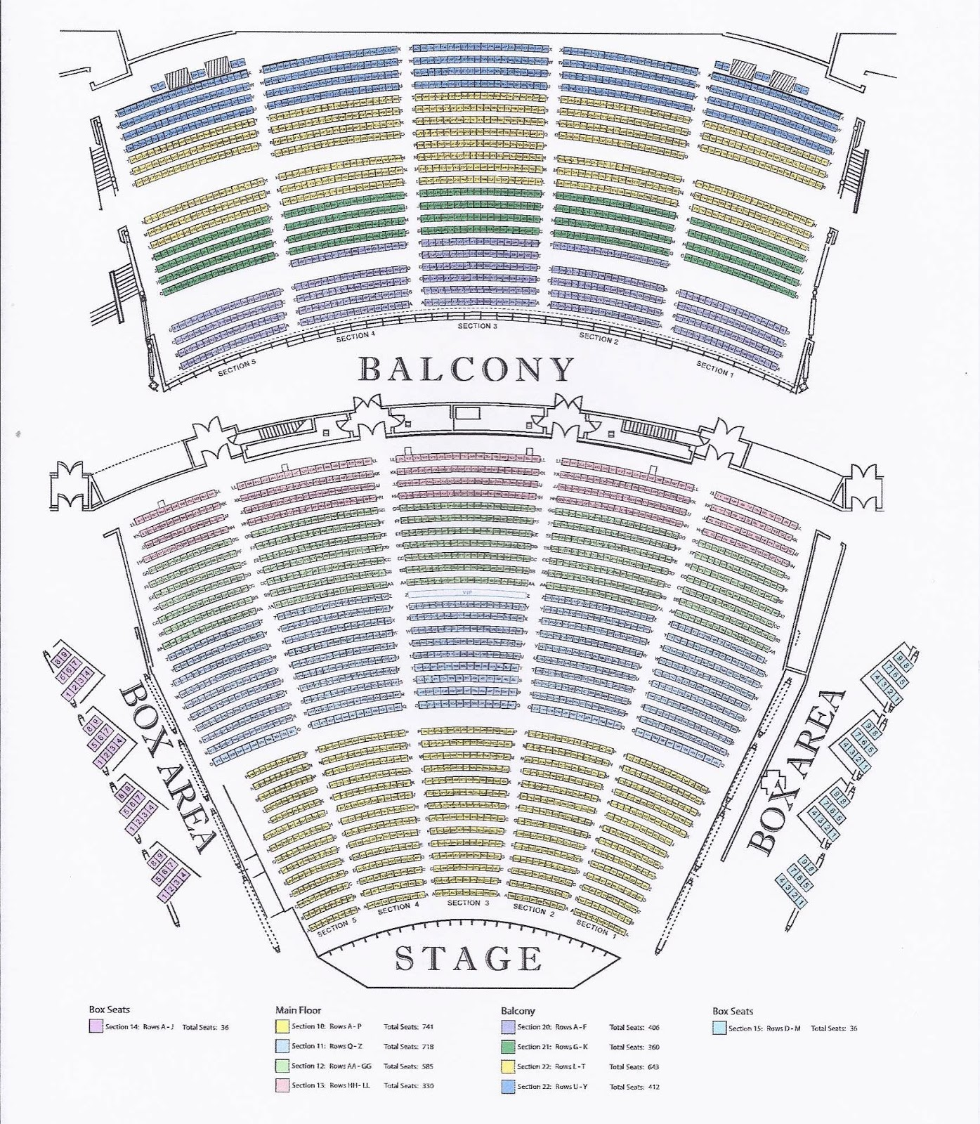The Palms Crown Seating Map
