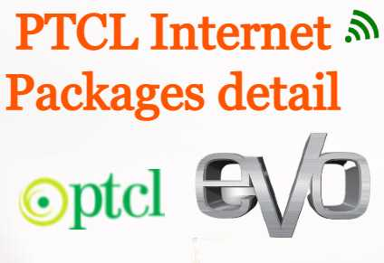 PTCL Internet Packages detail 6 Mbps, 8 Mbps, Unlimited Interet