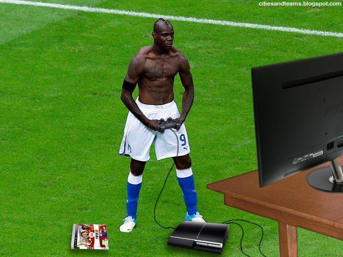 Mario Wallpaper Hd Mario Balotelli Playing Playstation Fifa 2012 Manchester