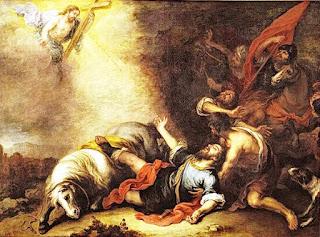 Исус среща Савел на пътя за Дамаск
