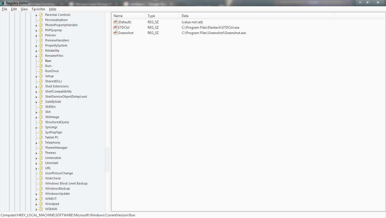 HKEY_Local_Machine\Software\Microsoft\Windows\CurrentVersion\Run
