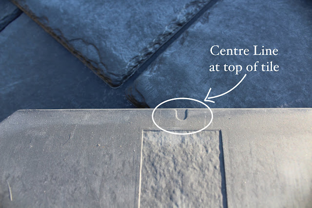 how to align slate roof tiles