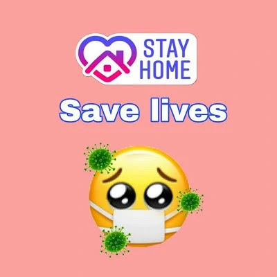 stay home save lives image download