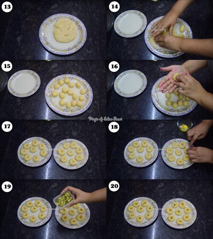 Kaju Peda Mithai Recipe - काजू पेड़ा मिठाई  रेसिपी - Priya R - Magic of Indian Rasoi