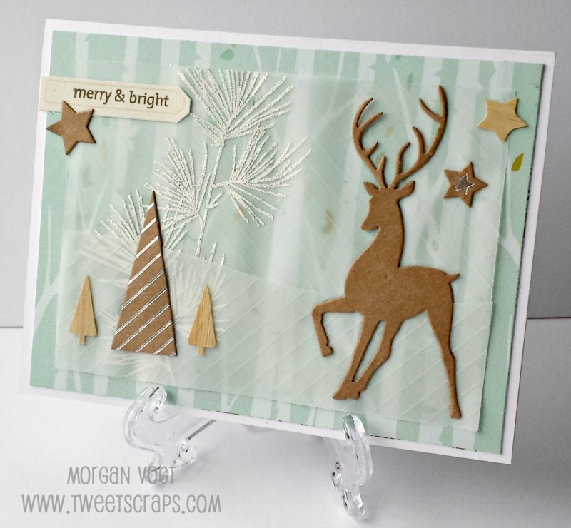 oh deer christmas card softening patterned paper - Deer Christmas Cards
