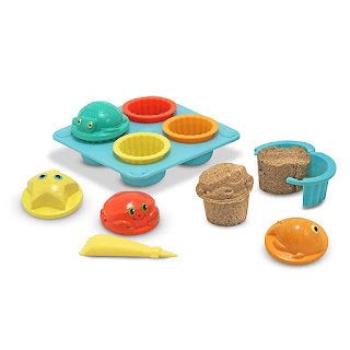 Image: Melissa and Doug Sunny Patch Seaside Sidekicks Sand Cupcake Set