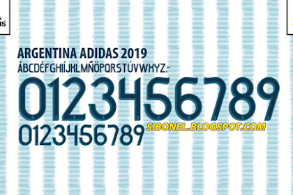 Download Font Jersey Argentina 2019 for Copa America