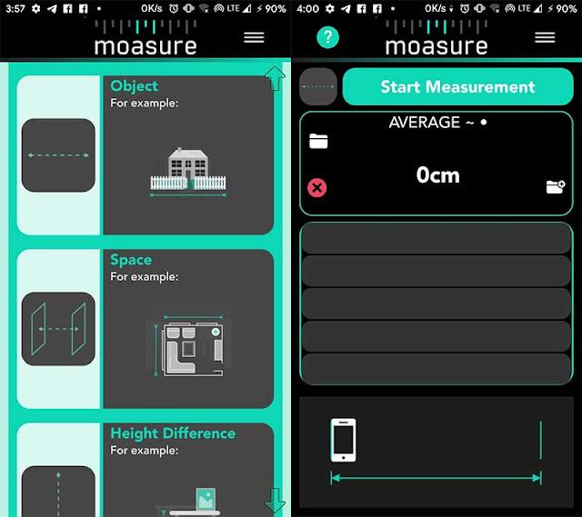 cara mengukur dengan smartphone android