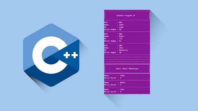 Contoh program C++ Input, output dan percabangan IF