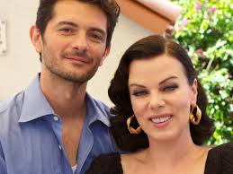 Gabriele Corcos and his wife, the actress Debi Mazar, in a scene from their TV show