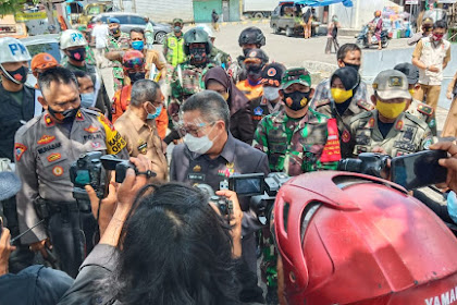 Bersama TNI-Polri , Walikota Parepare Sidak Pendisiplinan Protokol Kesehatan