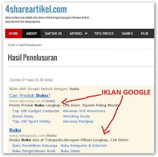 Adsense Google Penelusuran