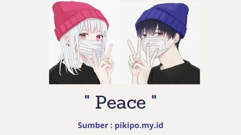 Gambar PP Wa Keren Anime Couple Masker Peace