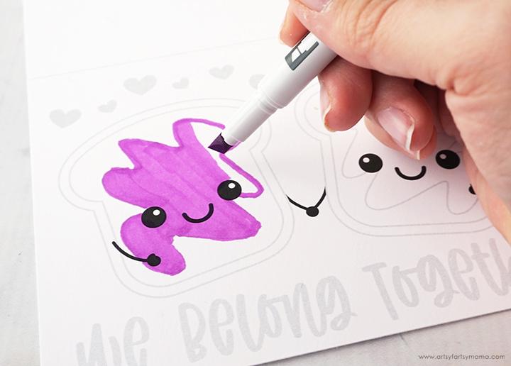 """Free Printable """"We Belong Together"""" Valentine Cards"""