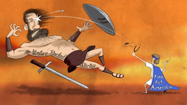 Fine Art America vs Venture-Backed Startup David trashing Goliath