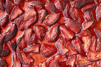 fraises lentement rôties au four