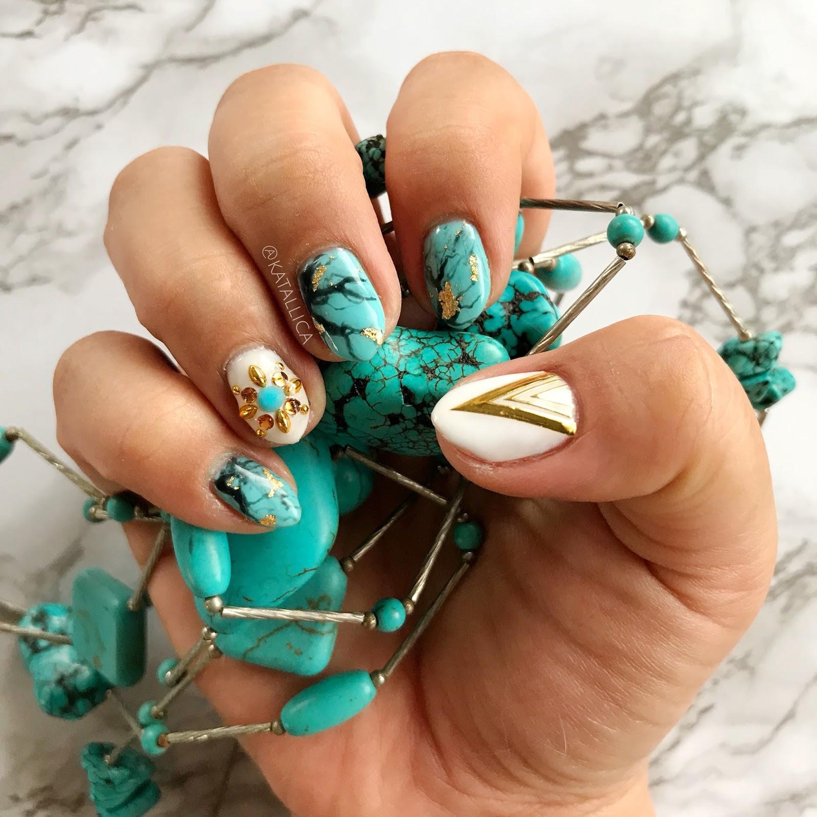 This Weeks Nails: Turquoise - Kawaii Kauaian