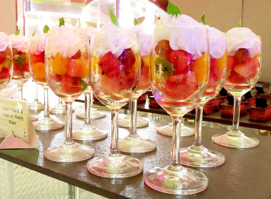 Fresh Fruits & Cream in Sherry Glass - Seda Abreeza