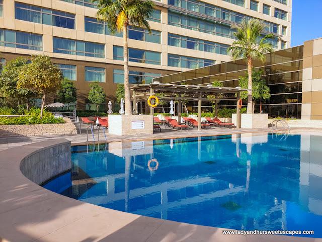 swimming pool at Swissotel Al Ghurair