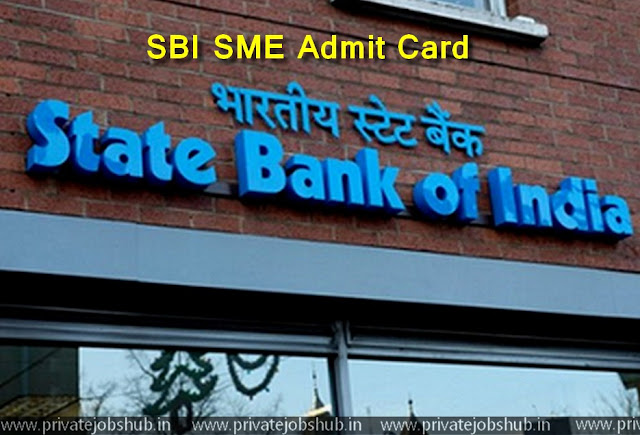 SBI SME Admit Card