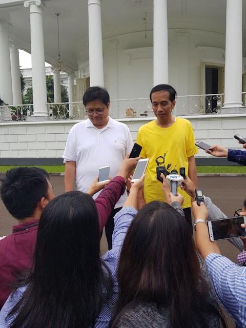 Hari Ini Jokowi-Airlangga Bahas Cawapres, Karena Kesaksian Setnov?