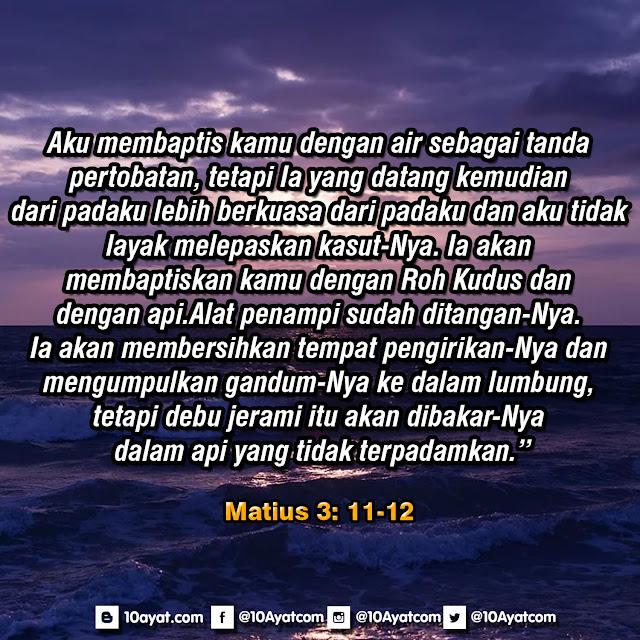 Matius 3: 11-12