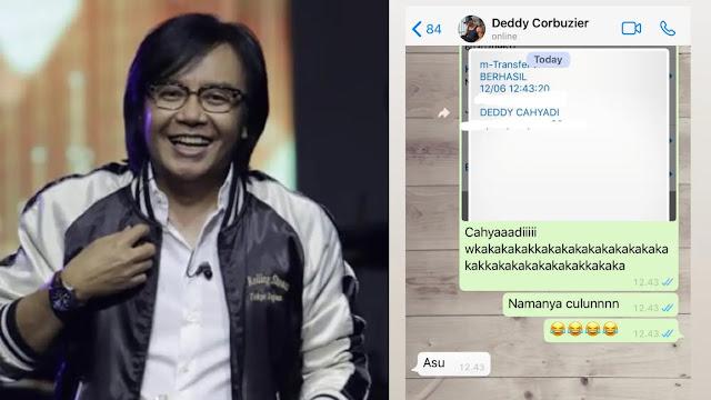 Ari Lasso Bongkar Nama Asli Deddy Corbuzier Sampai Ketawa Terbahak