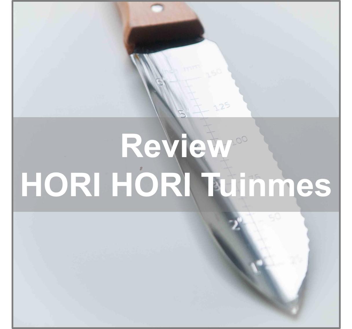 review hori hori tuinmes moestuin