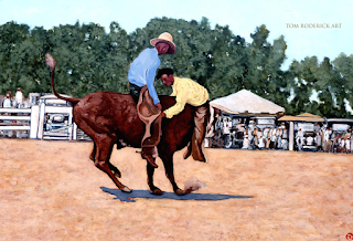Take the bull by the horns by Boulder artist Tom Roderick