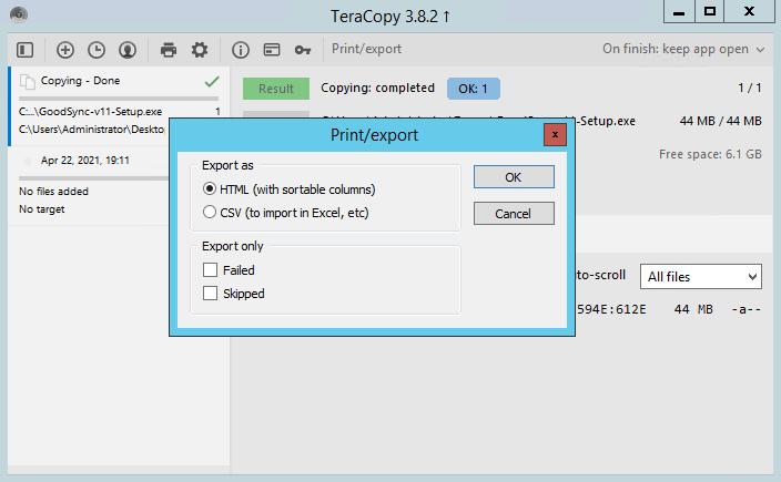 TeraCopy 3.8.4