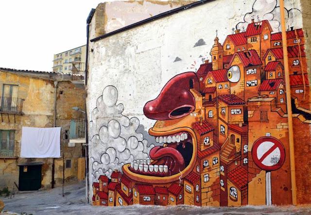 """The Scream Of Vallicaldi"" New Street Art Piece By Mr Thoms In Sicily. 1"