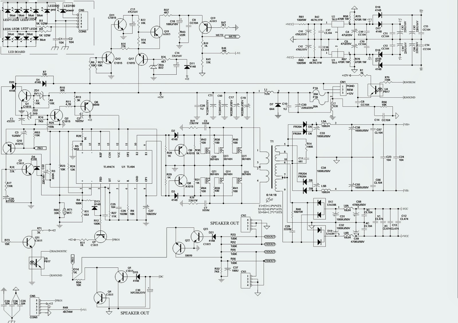 Infinity Ref475a Car Audio Circuit Diagram