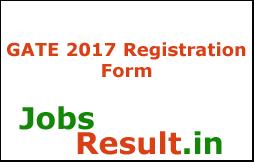 GATE 2017 Registration Form