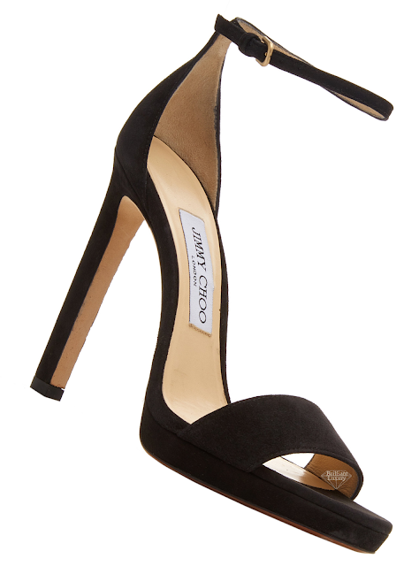 Jimmy Choo Misty Black Suede Platform Sandals #brilliantluxury