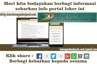 Lowongan Kerja Pt Pan Brothers Tbk Sragen Solo Lowongan Kerja Solo