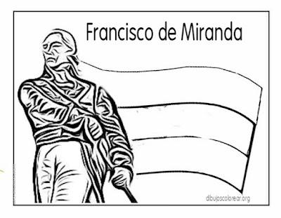 Dibujos Francisco de Miranda para pintar